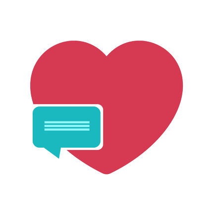 free download: nice heart and speech bubble design
