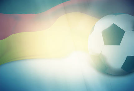 germany soccer ball modern mix retro creative background 3d render