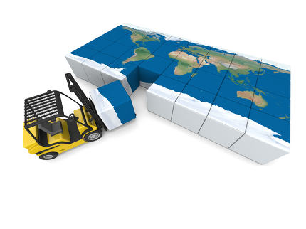 International transportation. Elements of this image furnished by NASA.