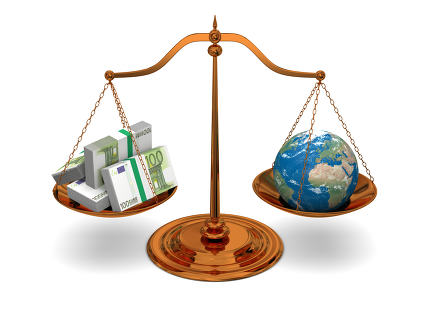 Justice and money. Elements of this image furnished by NASA.