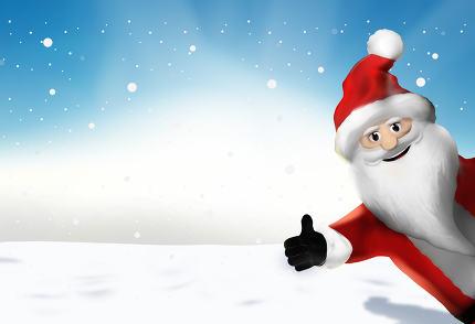 Santa Claus 3d render