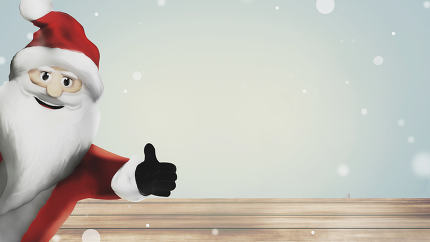 Santa Claus 3d render thumbs up