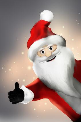Santa claus christmas 3d render