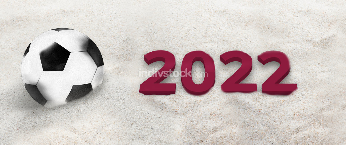 2022 soccer football 3d sand photo sports background