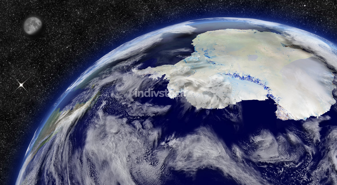 Antarctica on planet Earth. Elements of this image furnished by NASA.