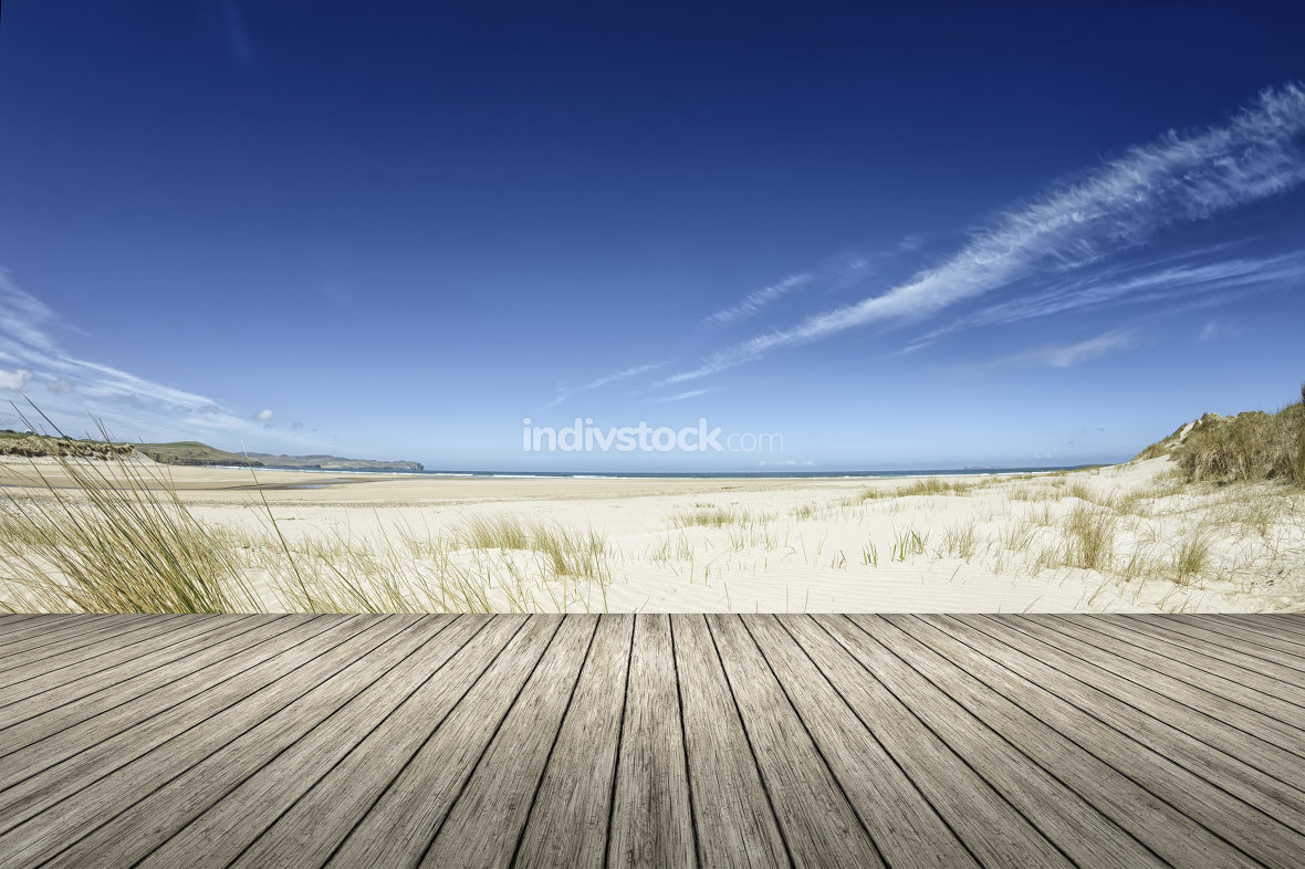 Beach wooden jetty