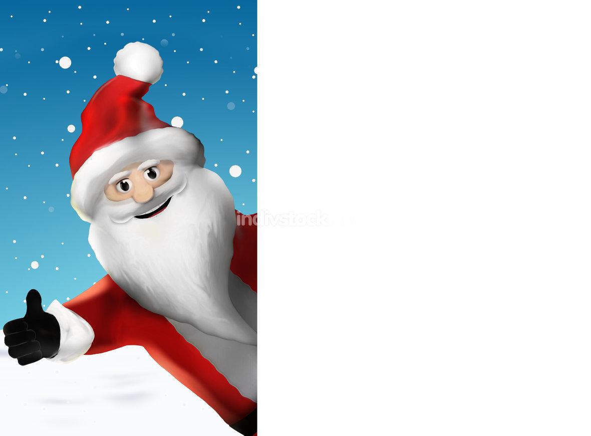 Christmas Santa Claus thumbs up 3d illustration