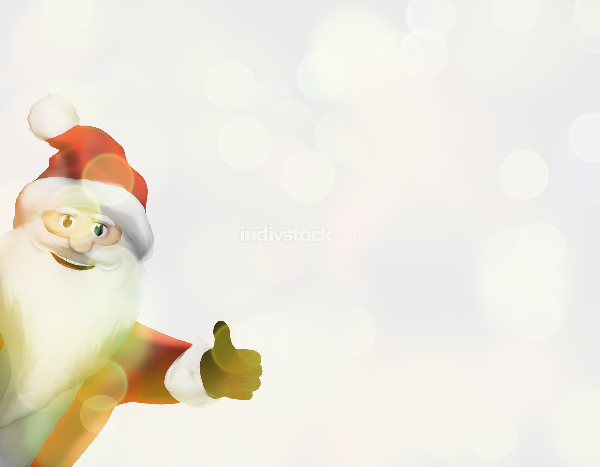 christmas santa claus thumbs up festive 3d render