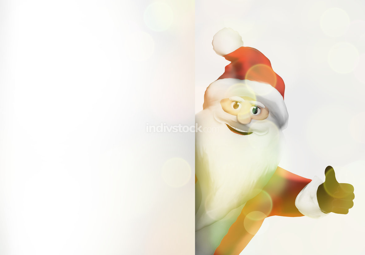 christmas santa claus thumbs up festive 3d render graphic image
