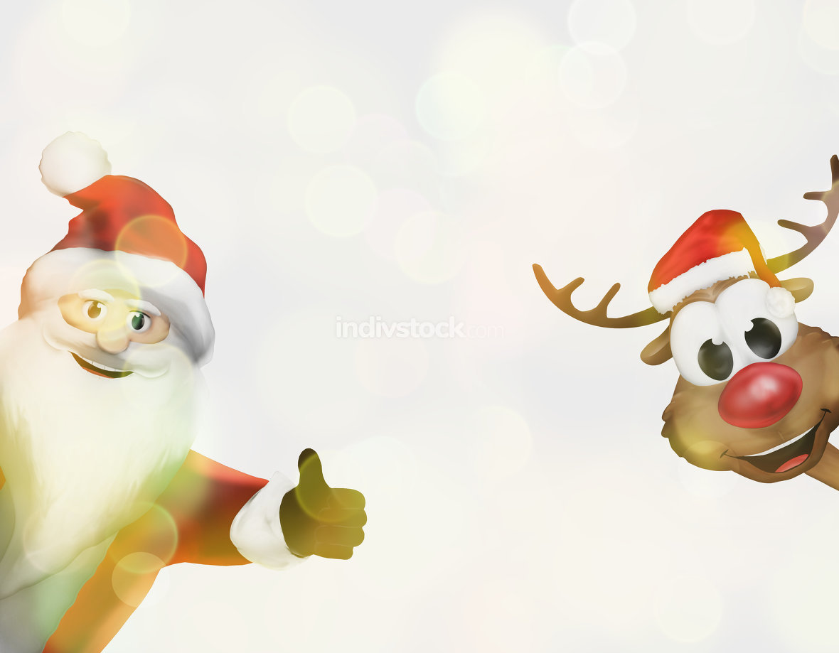 christmas santa claus thumbs up festive 3d render image graphic