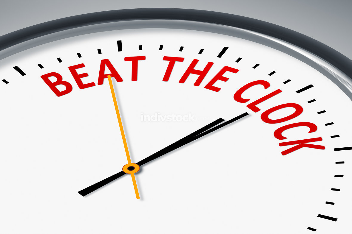 beat the clock essay You might think that one quick read-through is enough, but the trouble is that once the clock starts to tick, you might find yourself writing and writing and writing to beat the clock, only to.
