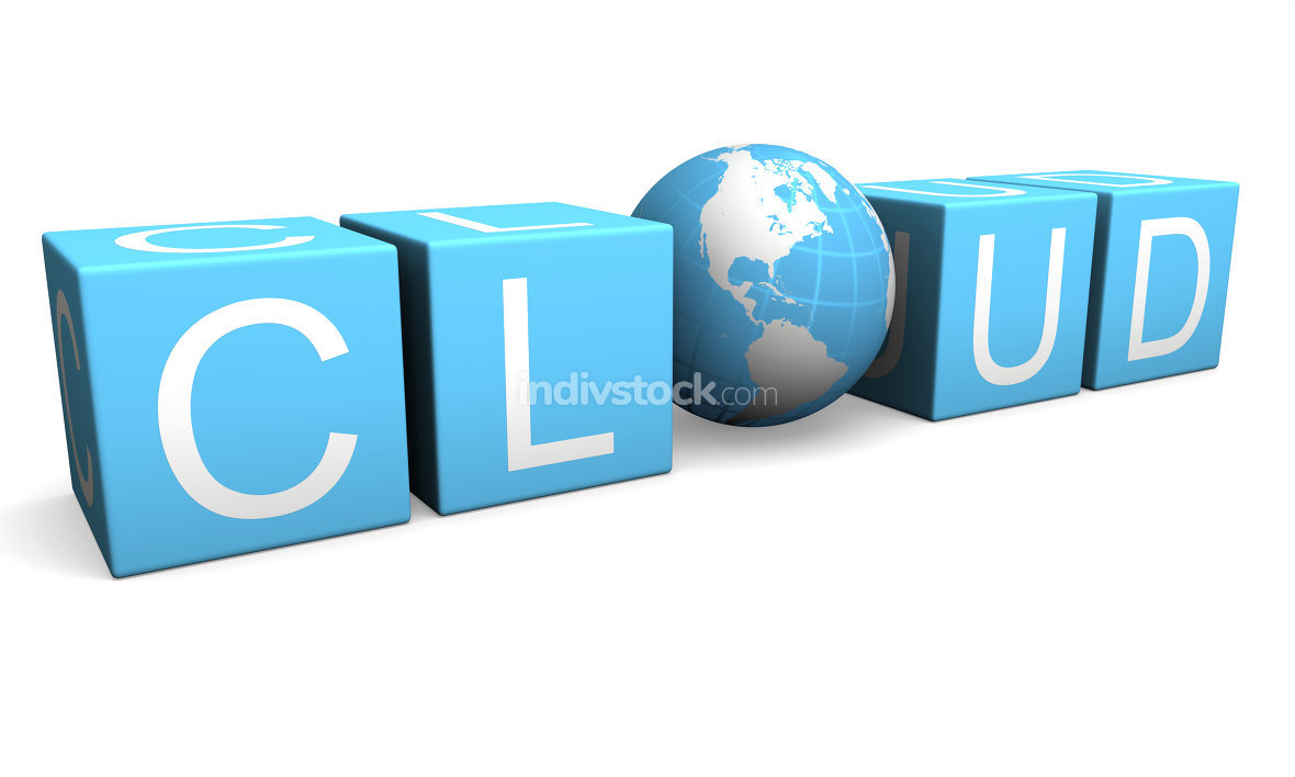 Cloud computing. Elements of this image furnished by NASA