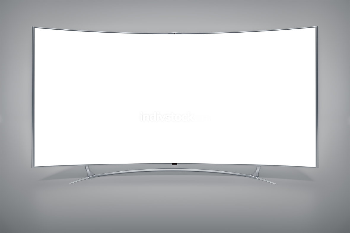 curved widescreen television