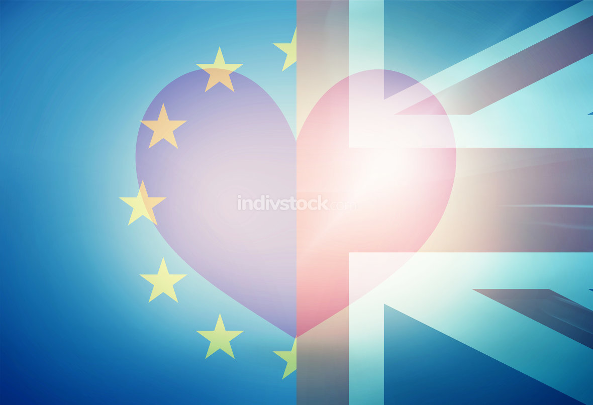 Europe and United Kingdom in Love Background