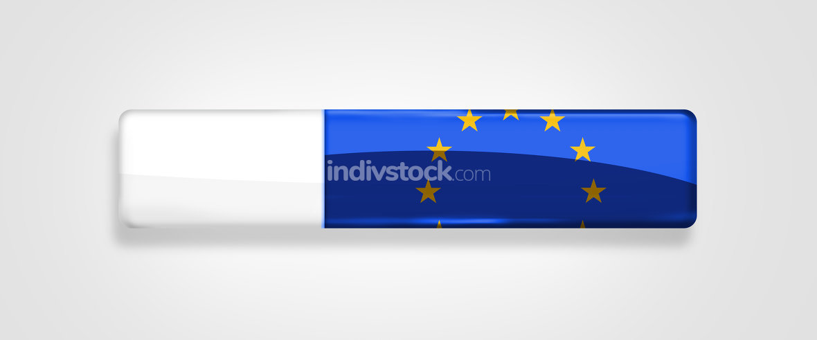 Europe EU Flag button icon isolated design