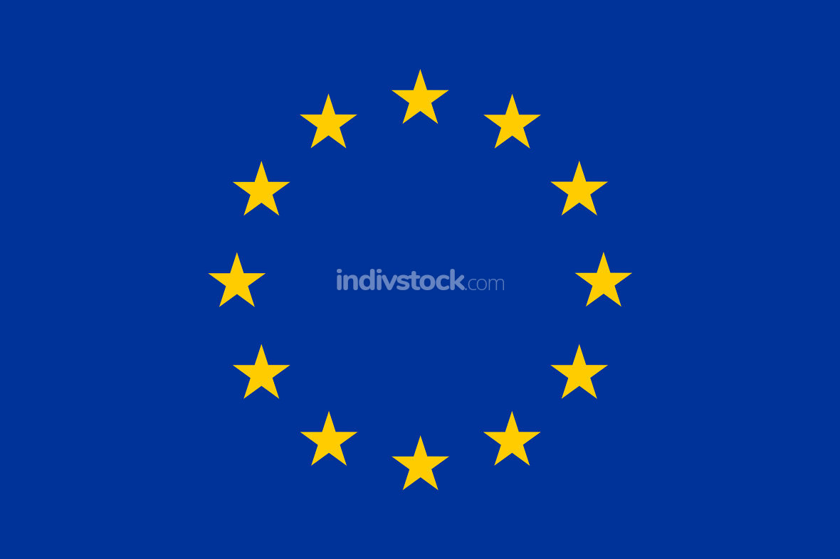 europe flag original colors