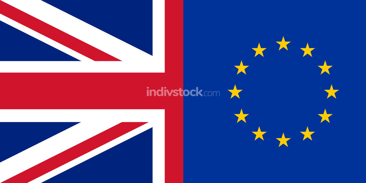 Europe United Kingdom Flag Background Graphic
