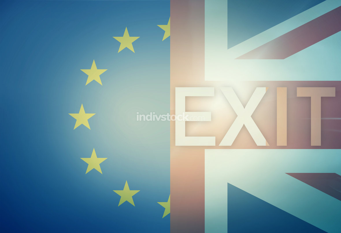 Exit Brexit Europe United Kingdom Combined Flag
