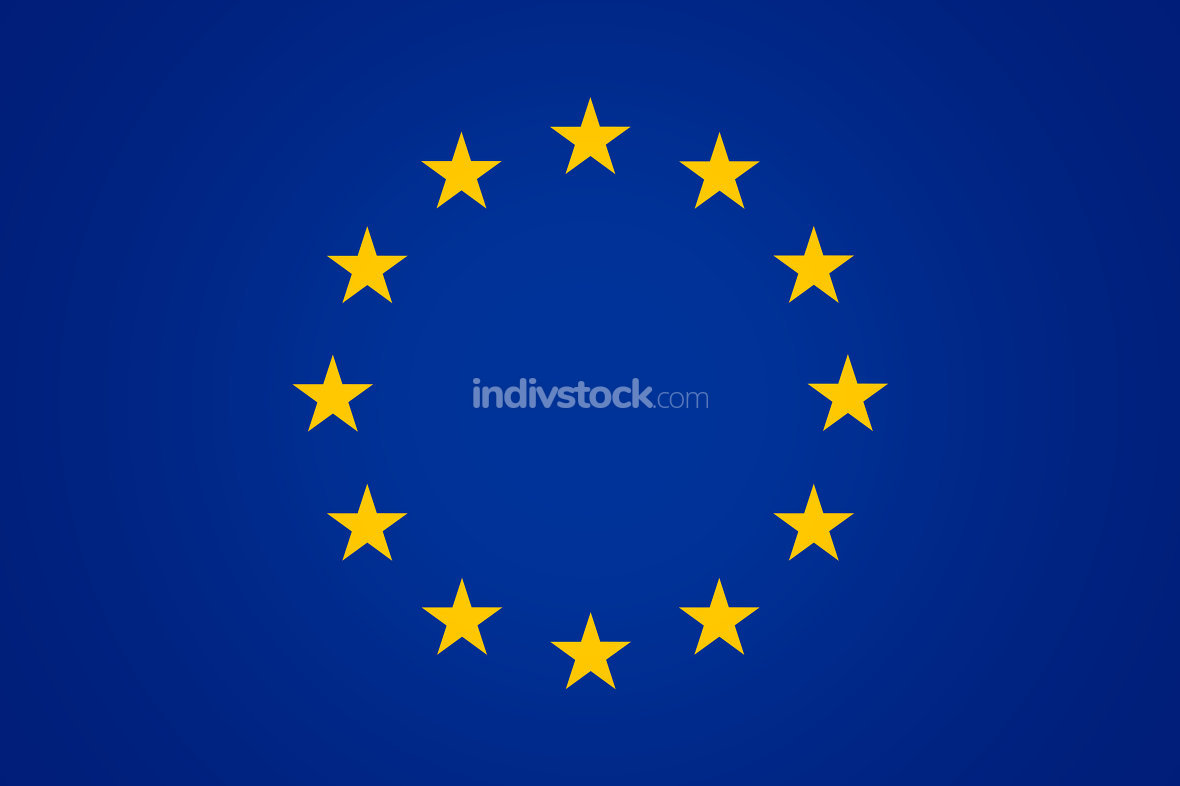 Flag of Europe Background blue color design