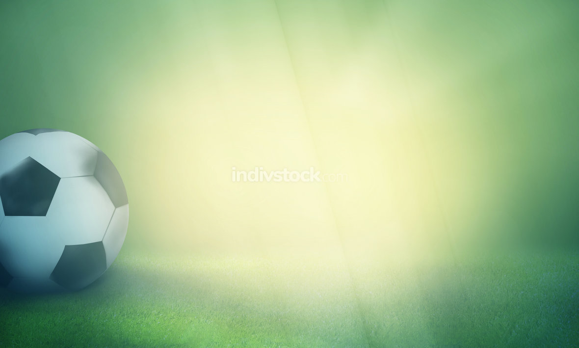 football modern mix retro vintage colored creative background 3d render
