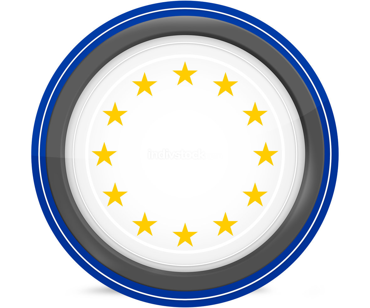 free download: europe flag design original colors blank round