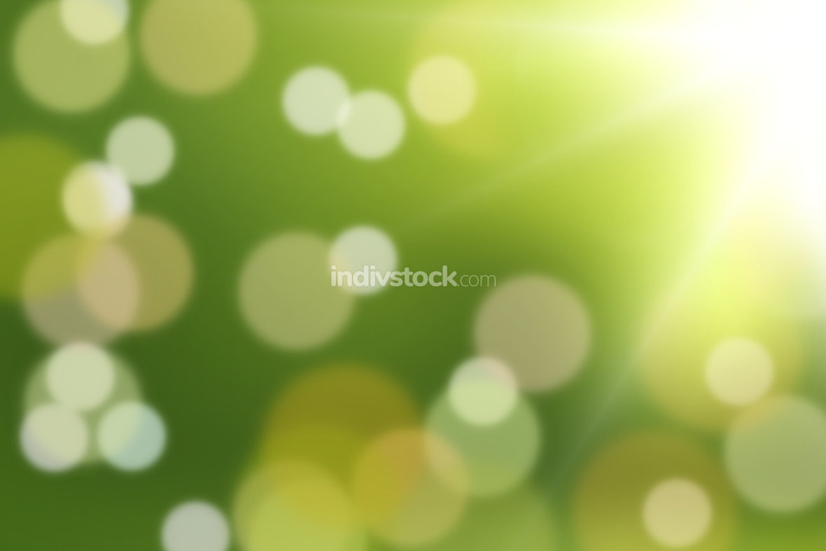 free download: green background strong green and light bokeh design