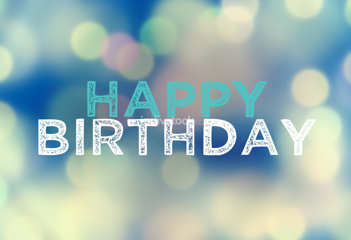 free download: Happy Birthday mix bokeh elements background