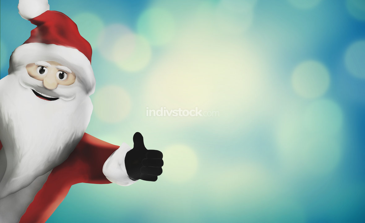 free download: Santa Claus 3d render thumbs up