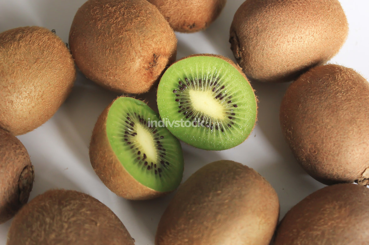 Fresh kiwi fruit close up