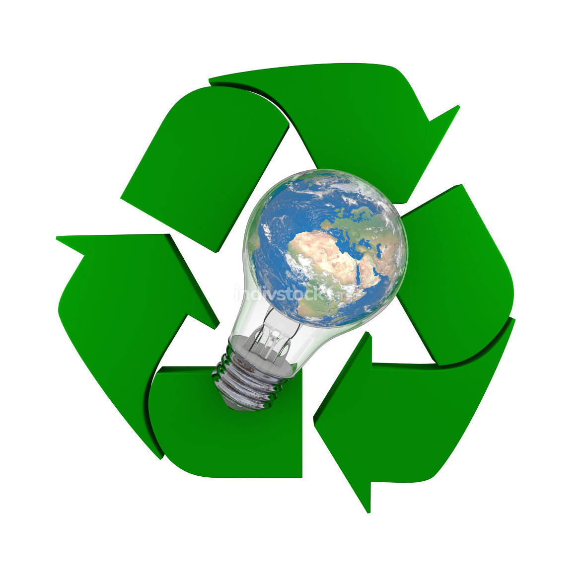 Global recycling idea. Elements of this image furnished by NASA