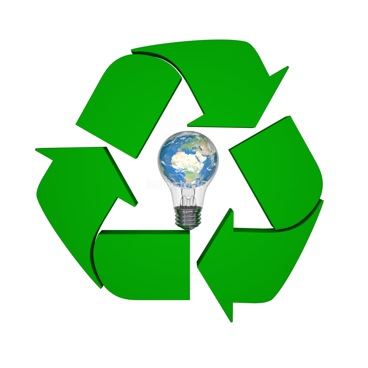 Global recycling ideas. Elements of this image furnished by NASA