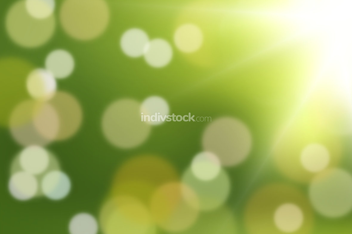 green background strong green and light bokeh design