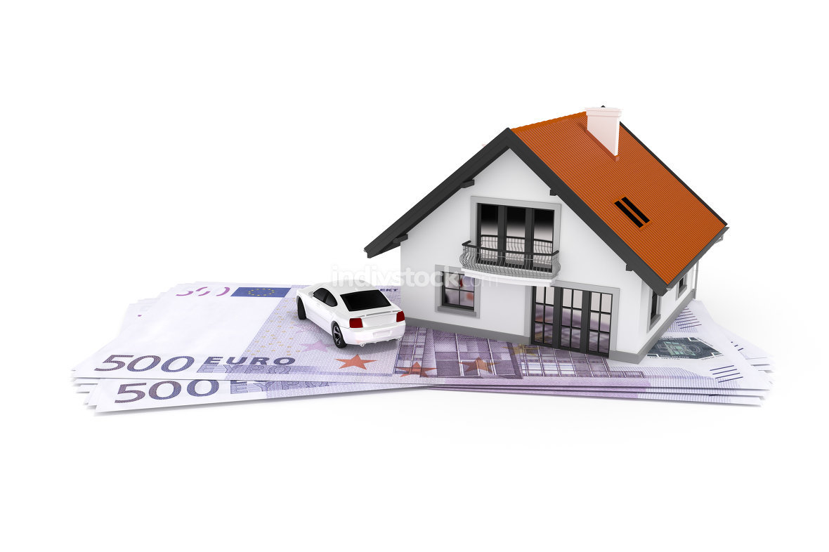 house and car above money