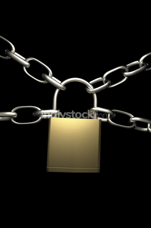 lock with four chains