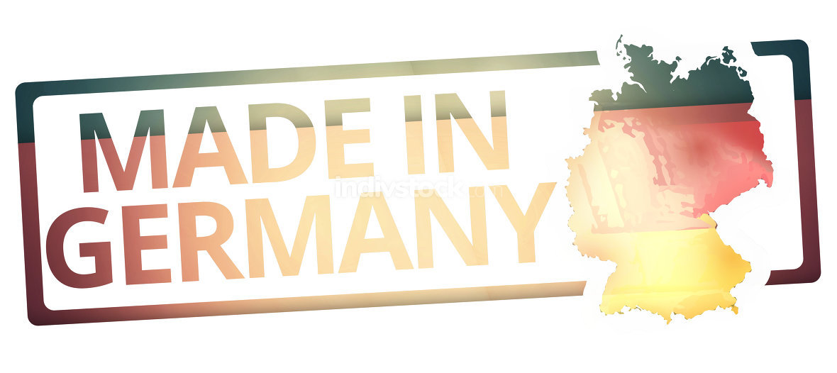 made in germany symbol colored design