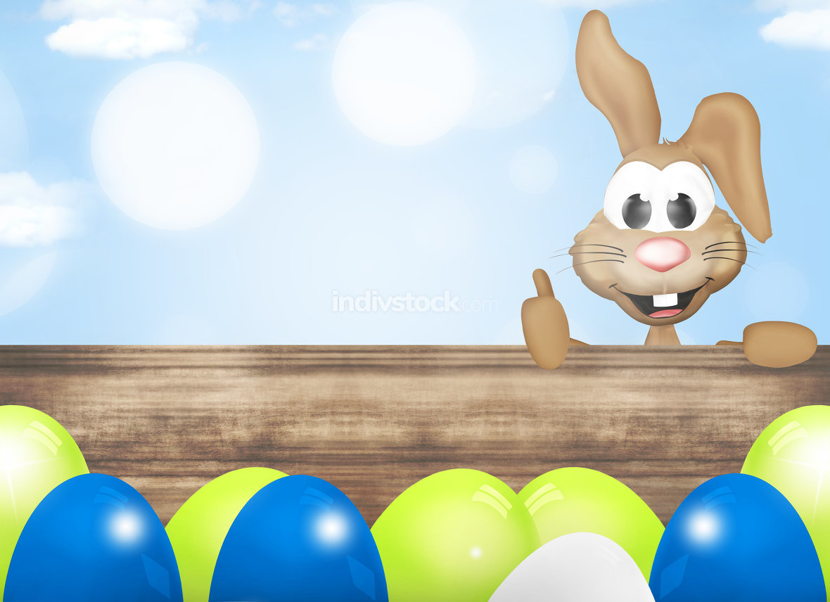 Modern Easter Eggs Design easter bunny cartoon
