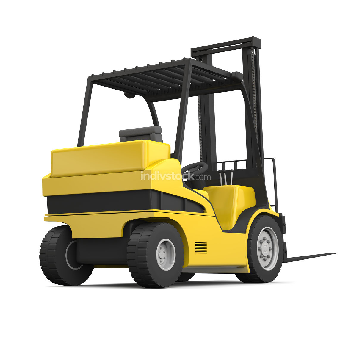 Modern yellow forklift