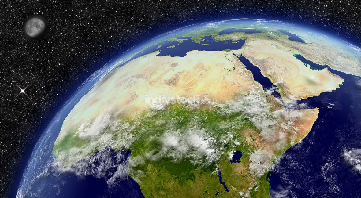 North Africa on planet Earth. Elements of this image furnished by NASA.
