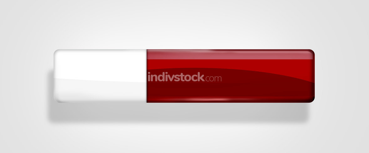 red blank glossy button icon symbol
