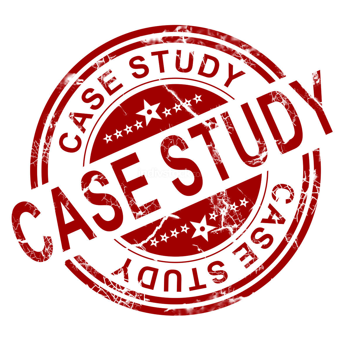 Red case study stamp