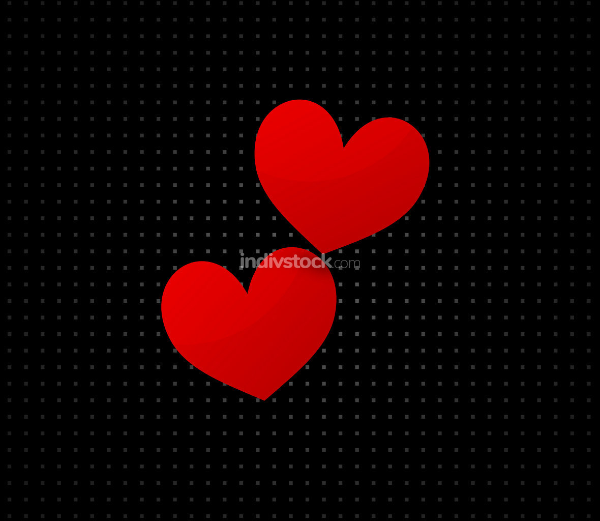 red hearts love design