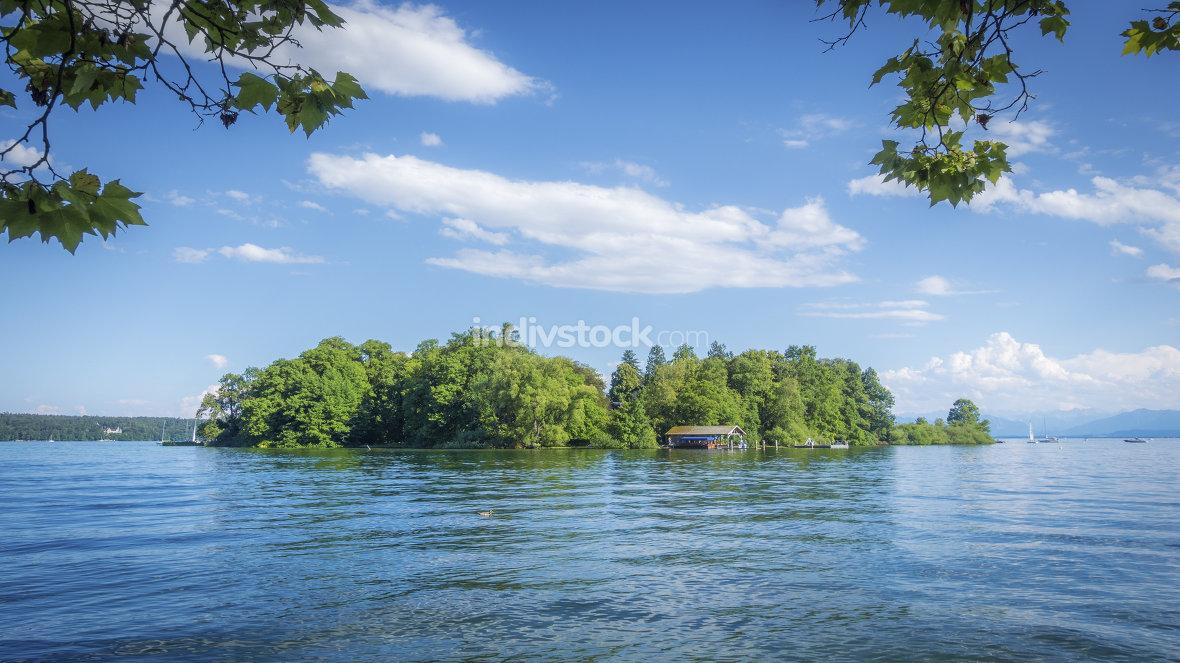 Rose Island Stranberg Lake Bavaria Germany