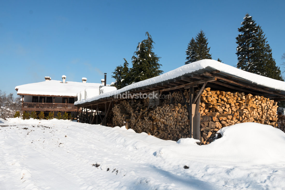 Shed for storing firewood