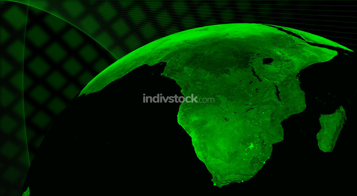 South Africa technology concept. Elements of this image furnished by NASA.