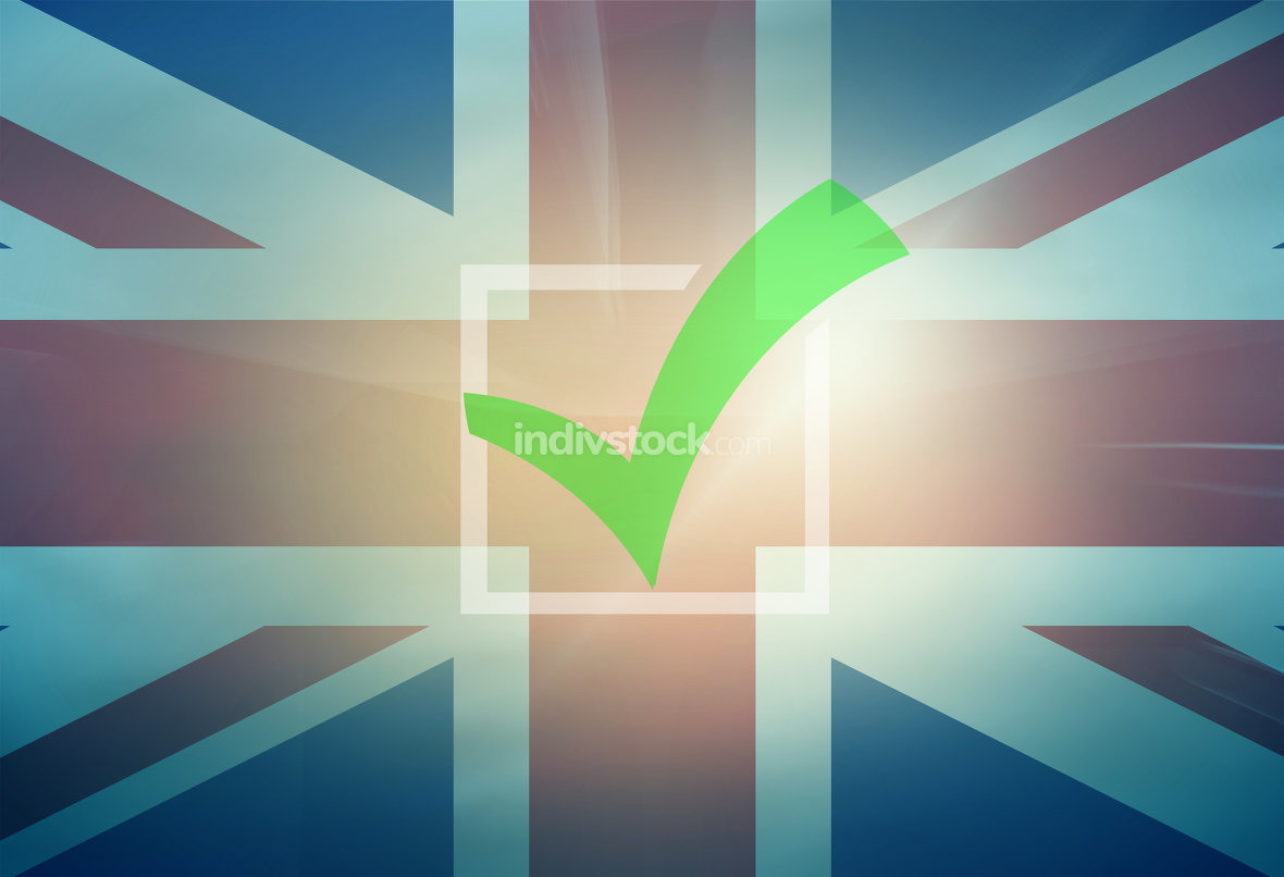 Tick Check Great Britain United Kingdom