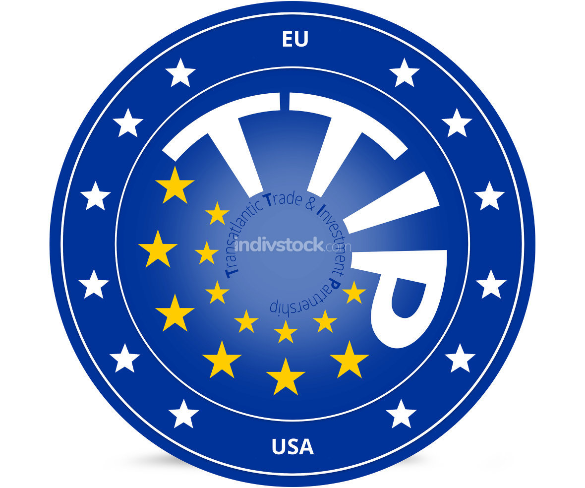 TTIP 13 stars Transatlantic Trade and Investment Partnership symbol