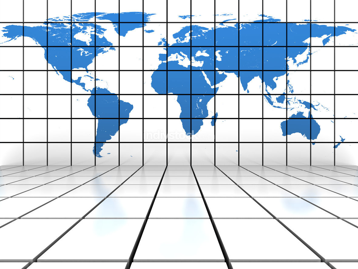World map background. Elements of this image furnished by NASA