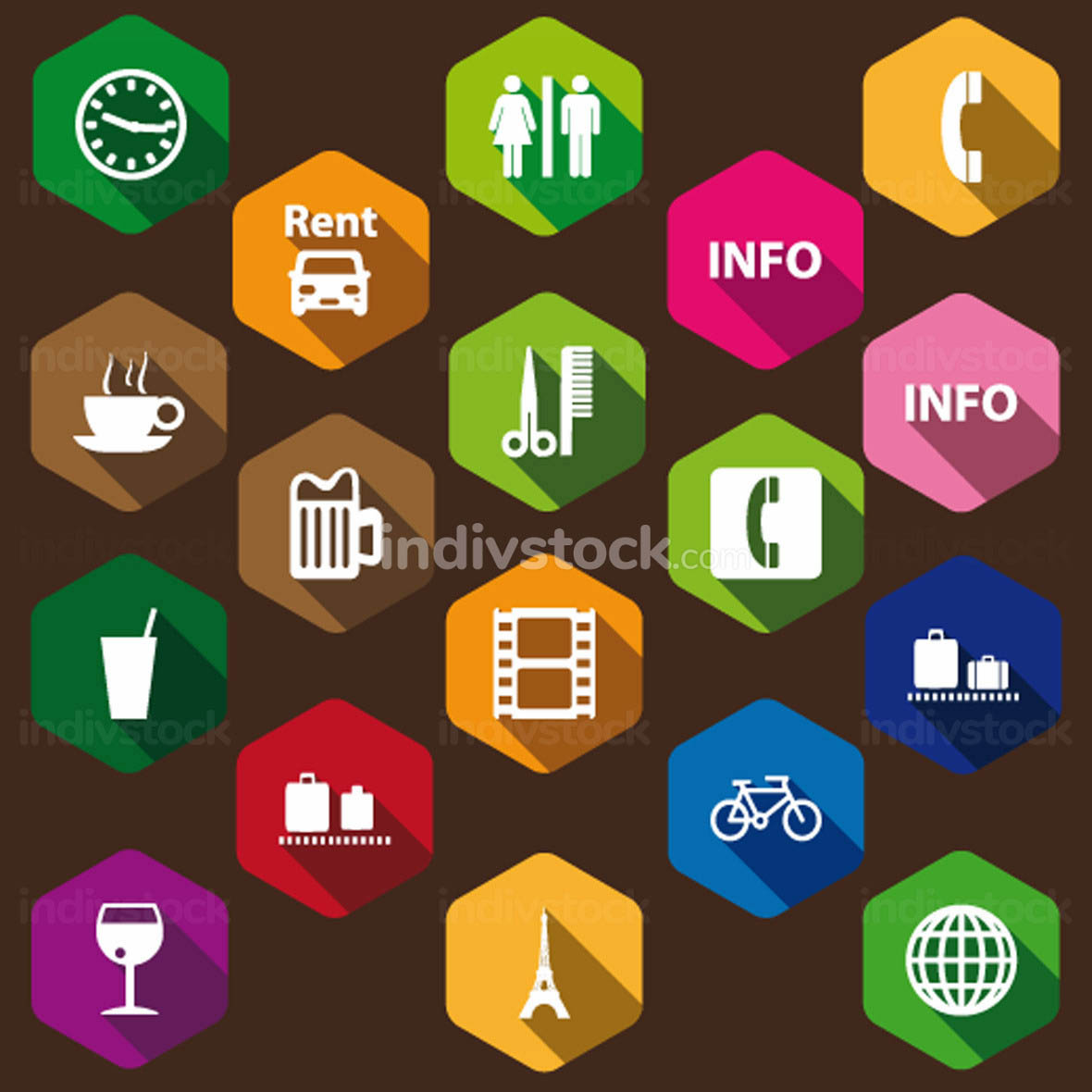 set of information icons