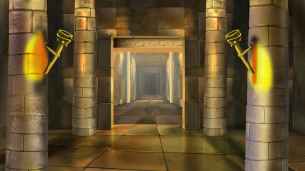 Ancient Egyptian temple interior. Image 4