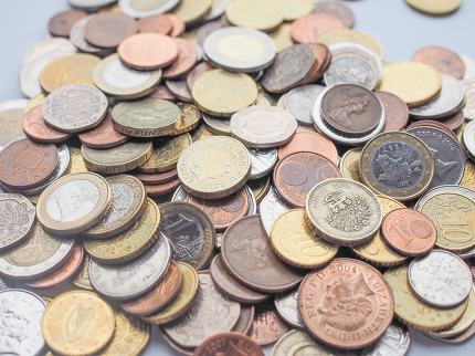 Euro and Pounds coins